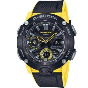 Мъжки часовник CASIO G-SHOCK Carbon Core Guard Yellow & Black GA-2000-1A9ER от krastevwatches.com - 1